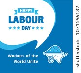 happy labour day design with... | Shutterstock .eps vector #1071596132