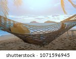summer vacations concept  happy ... | Shutterstock . vector #1071596945