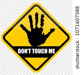 do not touch me | Shutterstock .eps vector #1071607388