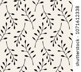 vector seamless pattern. floral ... | Shutterstock .eps vector #1071612338