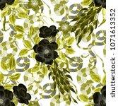 watercolor seamless pattern...   Shutterstock . vector #1071613352