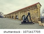 old monumental wall near the... | Shutterstock . vector #1071617705