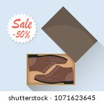 stylish modern male shoes in...