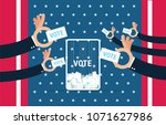 vote usa  voting concept in... | Shutterstock .eps vector #1071627986