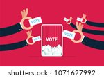 voting concept in flat style  ...   Shutterstock .eps vector #1071627992