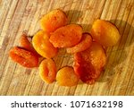 apricot on the table   Shutterstock . vector #1071632198