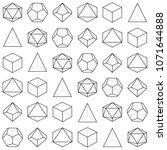 geometric dice pattern ... | Shutterstock . vector #1071644888