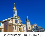 Two Churches With Belfry ...