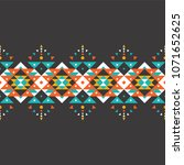 tribal seamless colorful... | Shutterstock .eps vector #1071652625