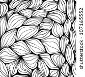 seamless doodle abstract waves... | Shutterstock . vector #107165552
