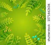 season spring and summer leaves ... | Shutterstock .eps vector #1071662636