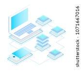 data storage servers ...   Shutterstock .eps vector #1071667016