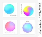 abstract gradient in the sphere ... | Shutterstock .eps vector #1071667532