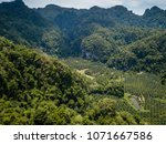 aerial view of deforestation of ... | Shutterstock . vector #1071667586