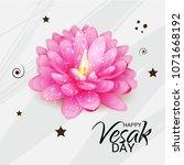 vector illustration of a banner ... | Shutterstock .eps vector #1071668192