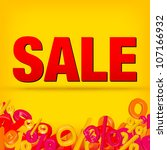 sale decoration | Shutterstock .eps vector #107166932