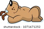 a cartoon illustration of a dog ... | Shutterstock .eps vector #1071671252