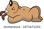 a cartoon illustration of a dog ... | Shutterstock .eps vector #1071671252