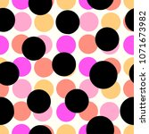 polka dots seamless pattern... | Shutterstock . vector #1071673982