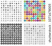 100 career icons set vector in... | Shutterstock .eps vector #1071678005