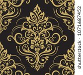damask seamless pattern for... | Shutterstock .eps vector #1071687452