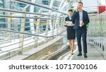 business people lady and... | Shutterstock . vector #1071700106