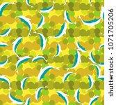 seamless texture with a flock... | Shutterstock . vector #1071705206