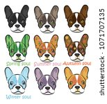 set of the cute multicolored... | Shutterstock .eps vector #1071707135