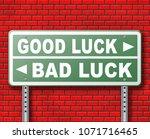 change of luck good or bad ... | Shutterstock . vector #1071716465