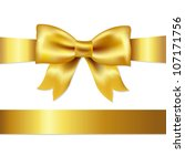 golden bow  isolated on white... | Shutterstock . vector #107171756