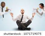 impassive businessman despite... | Shutterstock . vector #1071719075