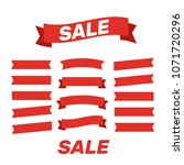 flat vector ribbons banners... | Shutterstock .eps vector #1071720296