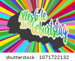 rainbow colored words alles... | Shutterstock .eps vector #1071722132