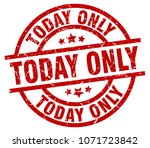 today only round red grunge... | Shutterstock .eps vector #1071723842