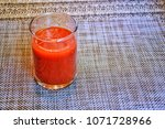 tomato juice is ready to drink...   Shutterstock . vector #1071728966