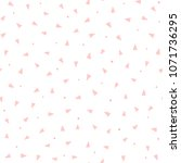 repeating pink triangles and... | Shutterstock .eps vector #1071736295
