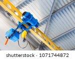 swivel electric crane hook for...   Shutterstock . vector #1071744872