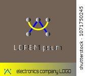 electronics company logo design | Shutterstock .eps vector #1071750245