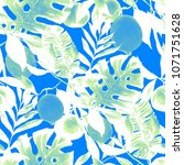 watercolor seamless pattern... | Shutterstock . vector #1071751628