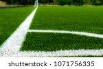 corner kick area on an empty... | Shutterstock . vector #1071756335