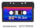 cassette with retro label as...   Shutterstock .eps vector #1071759935