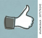 "thumb up ""like"" hand symbol.... 