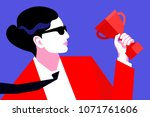 abstract portrait of business...   Shutterstock .eps vector #1071761606