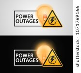 """banners """"power outages"""" on a... 
