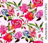 watercolor seamless pattern...   Shutterstock . vector #1071771842