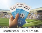 soccer tickets for the match | Shutterstock . vector #1071774536