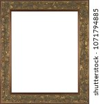 picture frame isolated on white ... | Shutterstock . vector #1071794885