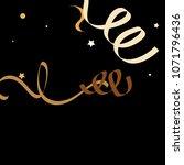 colorful star ribbon confetti.... | Shutterstock .eps vector #1071796436