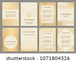 flyers with patterns    polka... | Shutterstock .eps vector #1071804326