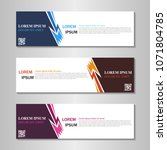 collection of web banner design ... | Shutterstock .eps vector #1071804785